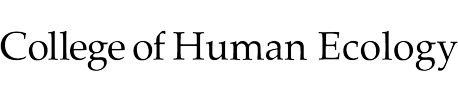 College of Human Ecology text mark