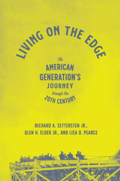 """yellow cover of the book """"Living on the Edge"""""""