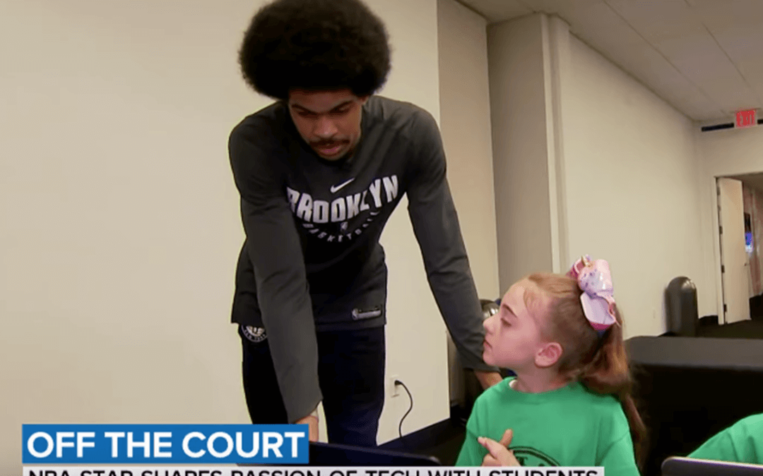 NBA's Jarrett Allen visits 4-H coders